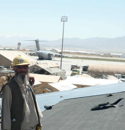 Build-Out B-Huts and Operations Tent, LSS and Fencing, Bagram Airfield