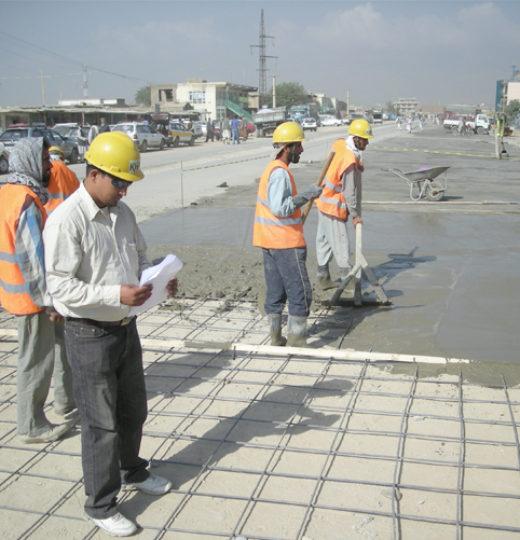 Contruct a concrete maintenance pad