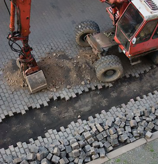 Construction of Concrete pads for Air port run ways