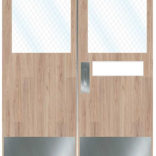 Provide and Install Two (2) Sets of Doubles Doors