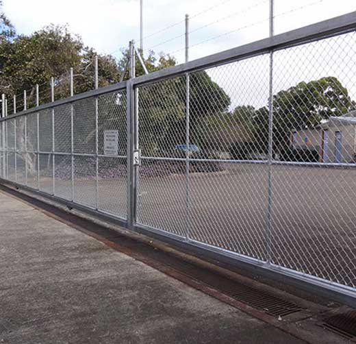 """""""Construct New 7′ High Chain Link Fence with Three Strand Barbed Wire Provide Prefabricated Pedestrian Gate, Vehicle Gate"""""""
